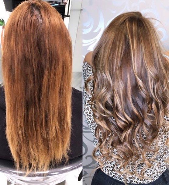 Cambio de look con extensiones de pelo en sevilla