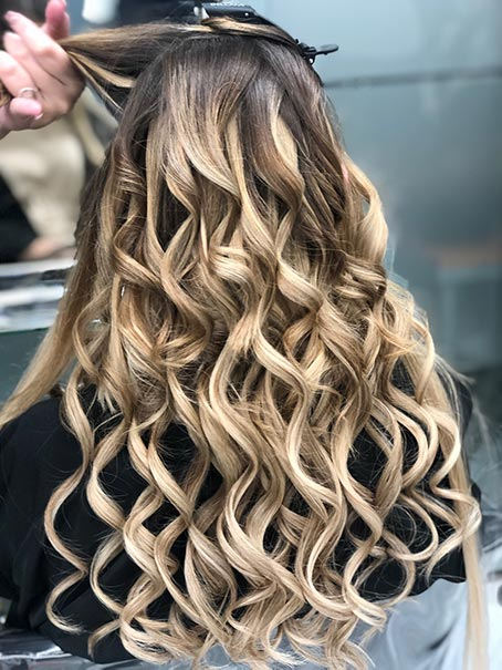 extensiones rubias de pelo natural adhesivas